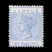 TUT1841 - Cyprus - QV wmk. CC Die I  2pi. Blue, VF unused. CLICK FOR FULL DESCRIPTION